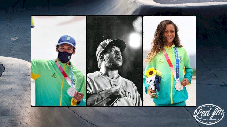 Atletas brasileiros do skate fazem homenagem a Chorão